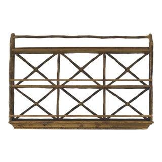 Wall Display / Plate Rack, Brown, Rattan For Sale