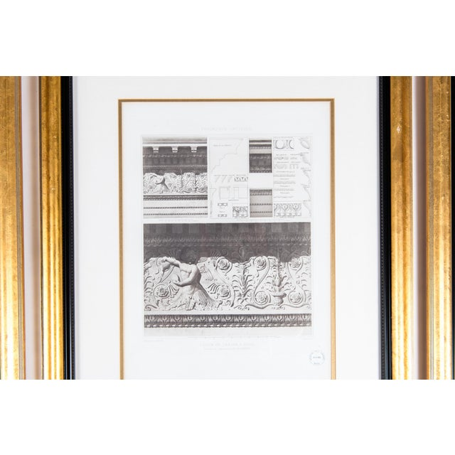 Mid-20th Century Architectural Lithograph With Giltwood Frame - Set of 3 For Sale In New York - Image 6 of 13