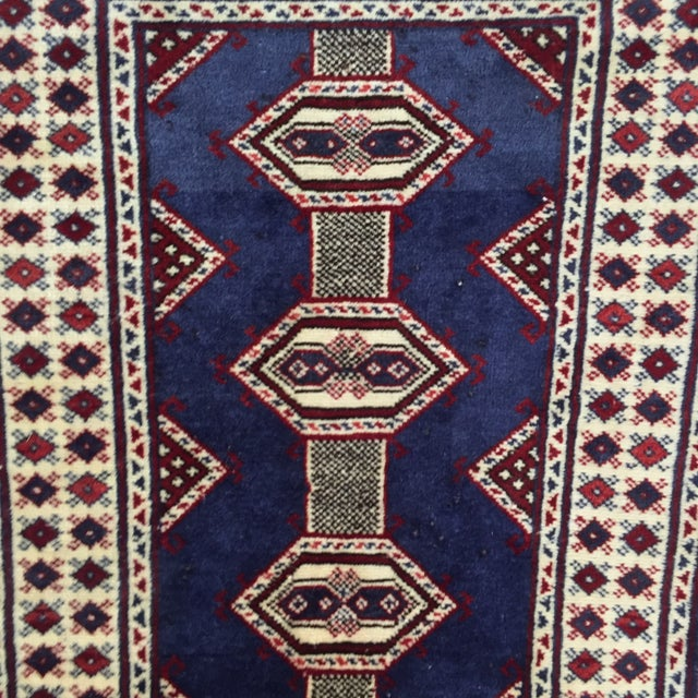 "Turkaman Handmade Persian Rug - 2'1"" X 2'8"" - Image 4 of 9"