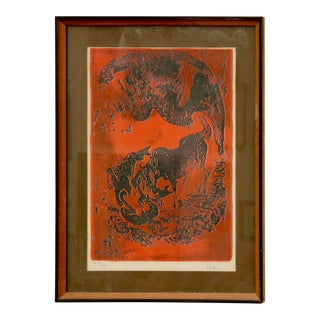 Signed Landscape Lithograph by Hoi For Sale