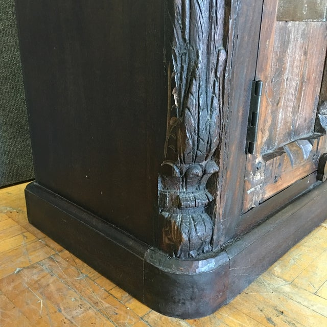 Handcrafted Tall Wooden Armoire by Buena Vista - Image 4 of 11