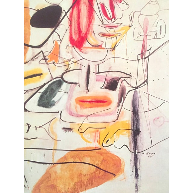 Vintage 1981 Arshile Gorky Original Abstract Lithograph Print Exhibition Poster - Image 7 of 9