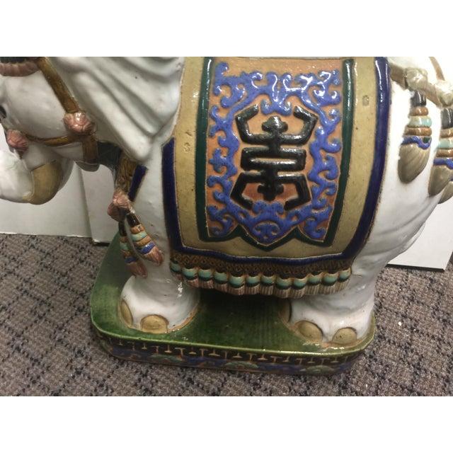 Asian Vintage Elephant Garden Stool For Sale - Image 3 of 10