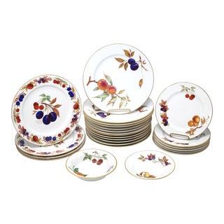 """Vintage 1961 """"Evesham Gold"""" Dishes by Royal Worcester - Set of 25 For Sale"""