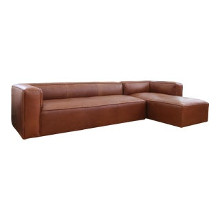Mid-century modern Leather corner sectional