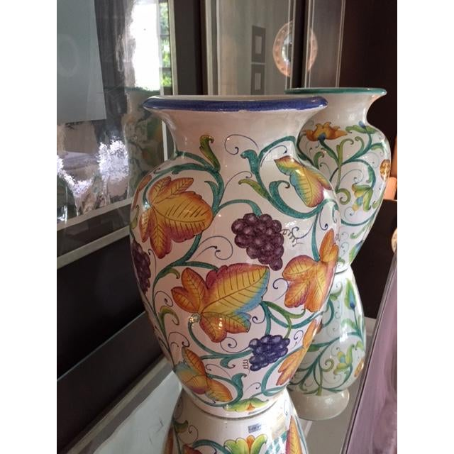 Colorful Italian Urns - A Pair - Image 3 of 4