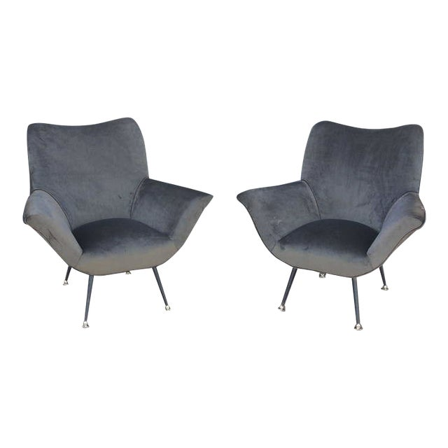 Pair of Italian Open-Arm Chairs - Image 1 of 7