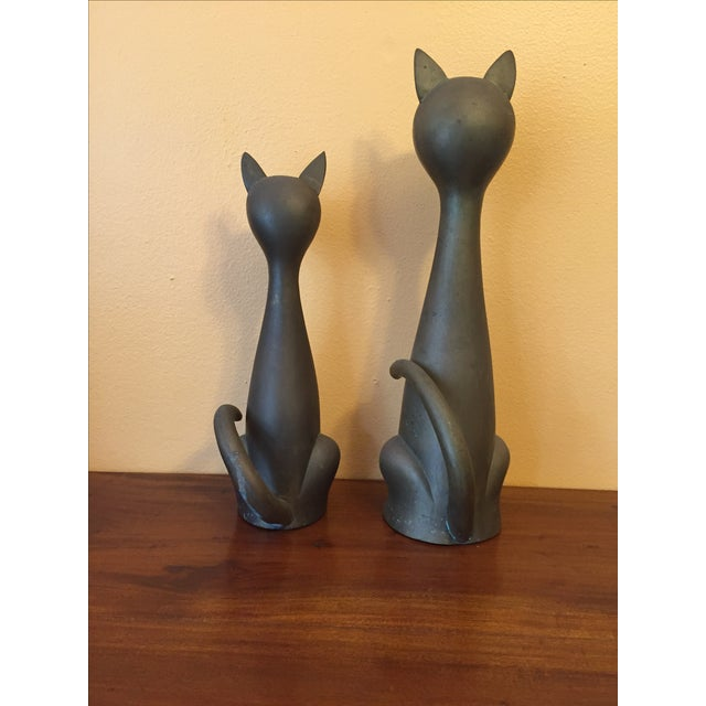 Mid Century Modern Brass Cats - A Pair - Image 5 of 10