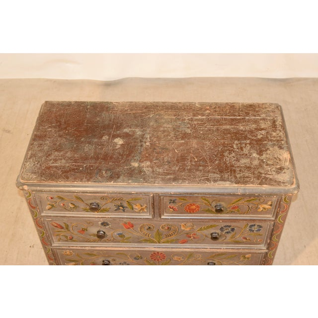 Gray 19th Century Painted Chest of Drawers For Sale - Image 8 of 10