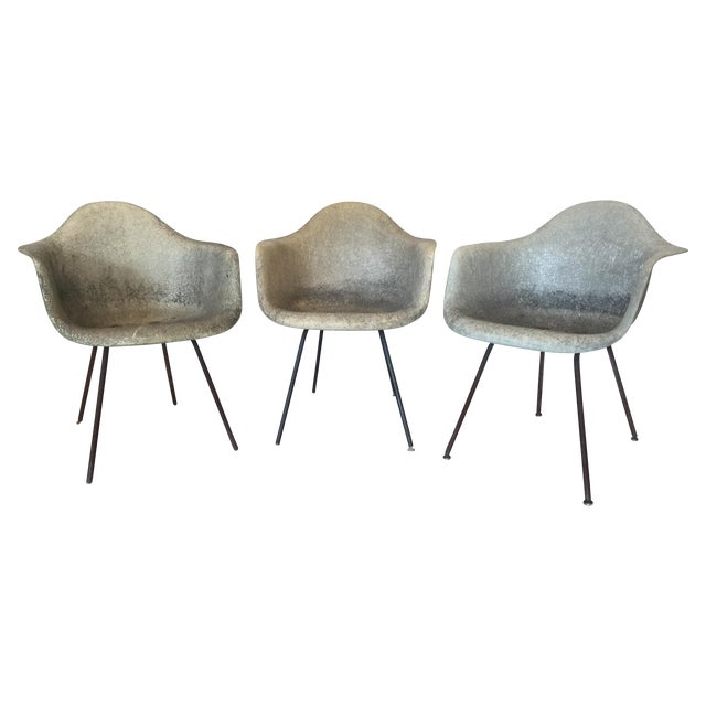 Eames Shell Arm Chairs - Set of 3 - Image 1 of 10