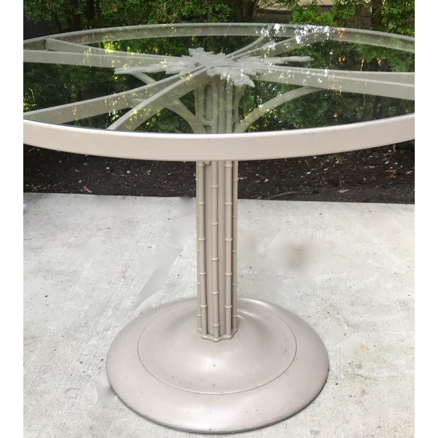 1960s Brown Jordan Iron Outdoor Dining Table, Circa 1960 For Sale In Chicago - Image 6 of 7