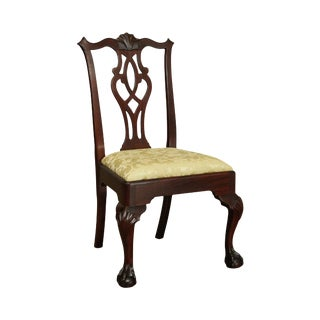 Stickley Chippendale Style Mahogany Ball and Claw Side Chair For Sale