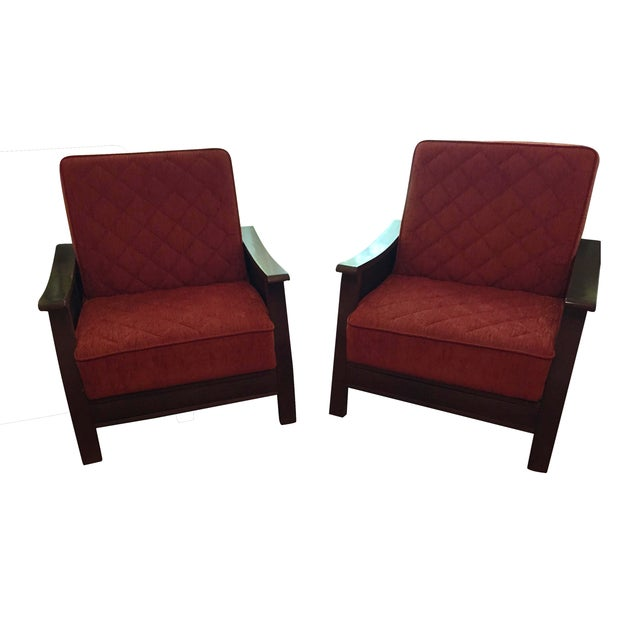 Turkish Armchairs - a Pair - Image 1 of 6
