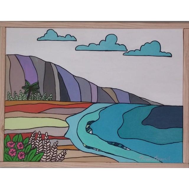 """""""Hawaiian Beach"""" Block Art by Kris Gould - Image 1 of 5"""