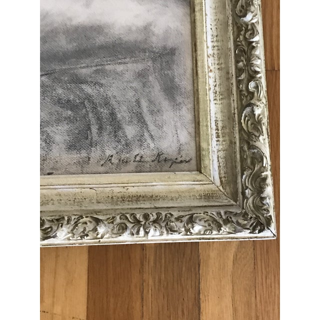 Boho Chic Mid-Century Framed Charcoal Nude Sketch For Sale - Image 3 of 10