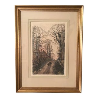 Fred Slocombe Handcolored Etching For Sale