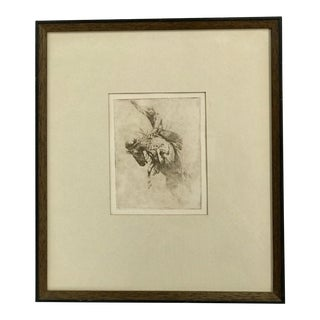 "Early 20th Century Antique Edward Borein ""Sunfishing"" Drawing For Sale"
