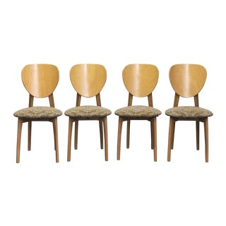Calligaris Mid-Century Danish Modern Dining / Side Chairs - Set of 4 For Sale