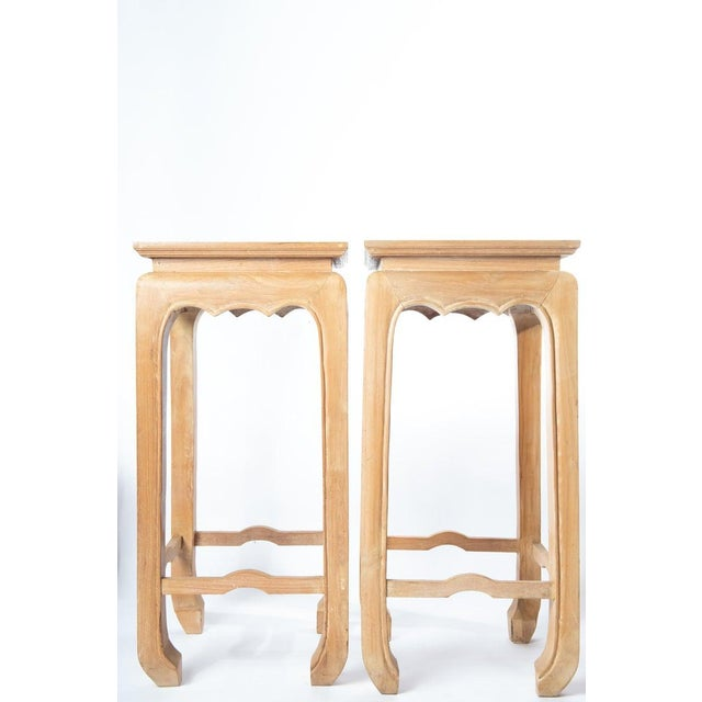 1960s Pair Ming Style Pedestal Tables For Sale - Image 5 of 13