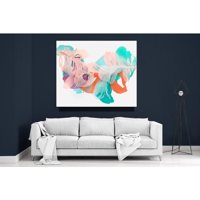 Mixed Media on Canvas. Paint extends onto gallery-wrapped canvas sides. Signed by artist and wired to hang vertically or...
