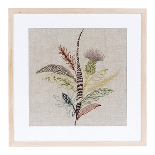 Thistle Framed Textile Art For Sale