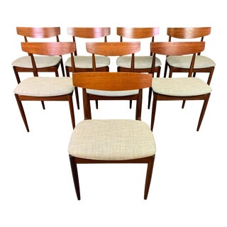 Vintage Mid Century Danish Kofod Larsen for G Plan Teak Dining Chairs- Set of 8 For Sale