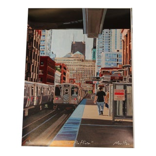 On the Platform - Giclee Print For Sale