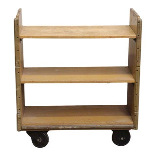 Reclaimed Solid Maple Rolling Car For Sale