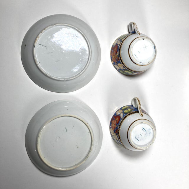 "Early 19th Century English Georgian New Hall ""1126"" Porcelain Tea Service for 2 - Set of 5 Pieces For Sale - Image 4 of 7"