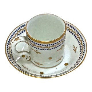 Antique Porcelain Miniature Cup & Saucer