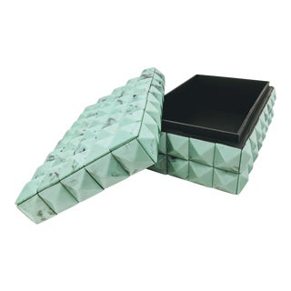 Turquoise Resin Covered Box - Rectangle For Sale
