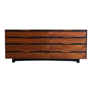 Mid-Century Modern John Kapel for Glenn of California Walnut Lowboy For Sale