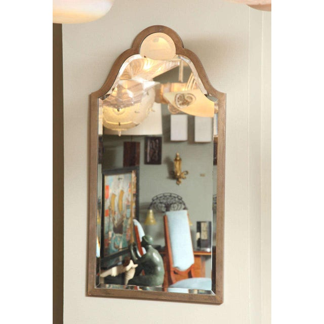 Glass French Art Deco Console with Mirror Attributed to Raymond Subes For Sale - Image 7 of 10