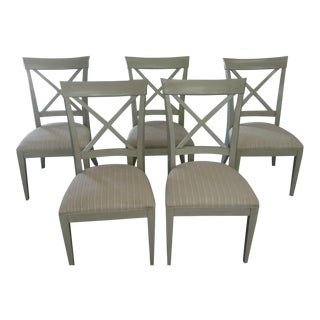 Modern Drexel Heritage Gourmet Lynx Side Chairs- Set of 5 For Sale
