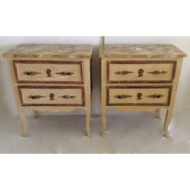 Italian Venetian Parcel Gilt Night Tables - a Pair For Sale - Image 10 of 10