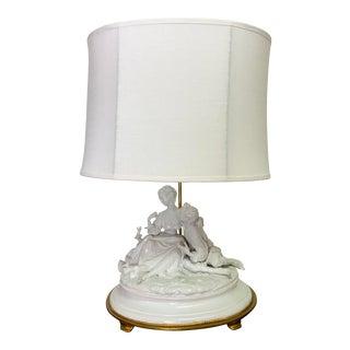 Marbro Lamp With Italian Capodimonte Sculpture For Sale