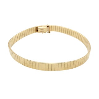 Vintage Italian 14k Yellow Gold Articulated Bracelet For Sale