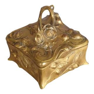 Art Nouveau Dresser Top Jewel Box For Sale