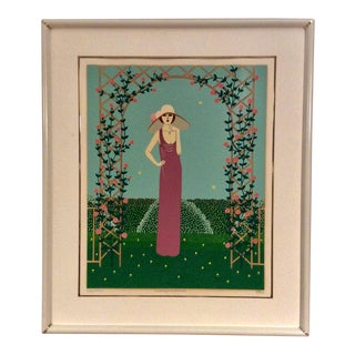 """Shigeo Okumura (Oku) """"Sidney's Mother"""" Hand Signed and Numbered Serigraph For Sale"""