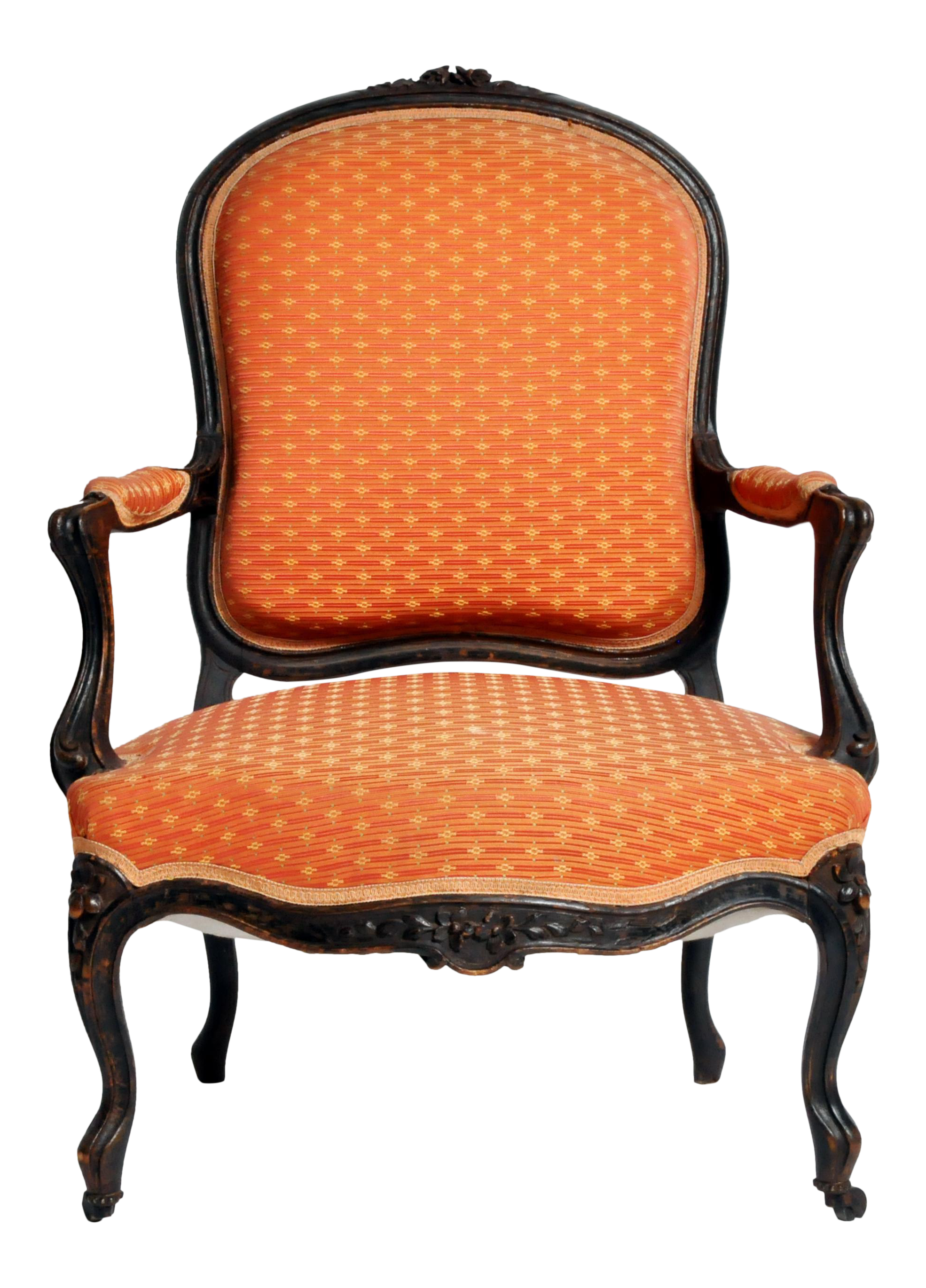High End Louis XV Style Fauteuil with Cabriole Legs