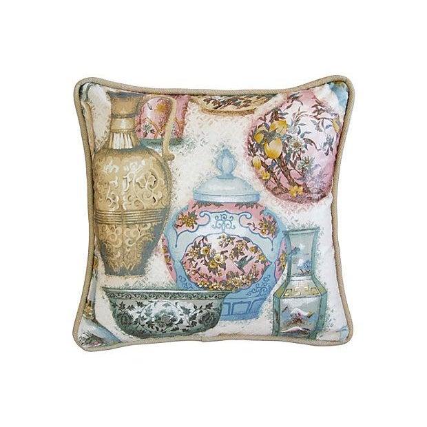 Custom Chinoiserie Vase Pillows - Pair - Image 6 of 7