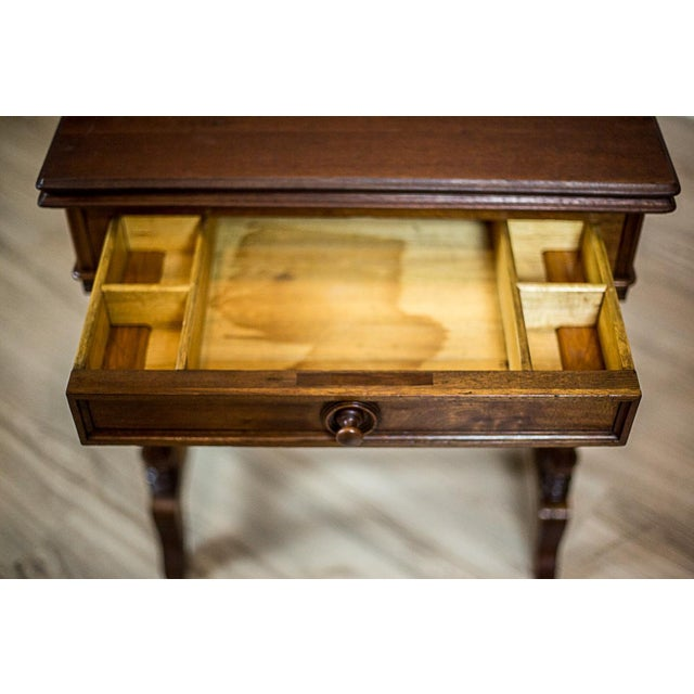 19th Century Walnut Sewing Table or Card Table For Sale - Image 10 of 13