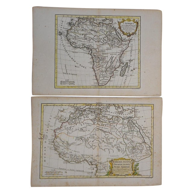 18th C. Africa & N. Africa Maps- Set of 2 - Image 1 of 4
