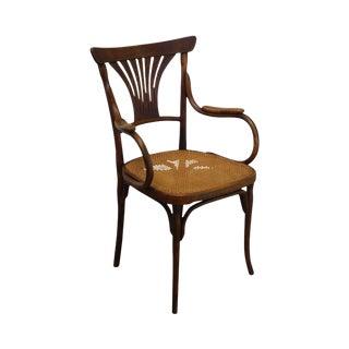 J & J Kohn Austria Antique Art Nouveau Armchair For Sale