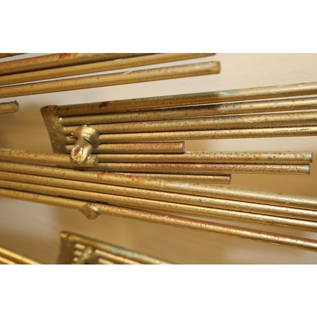 Gold 1980s Curtis Jere Retro Modern Abstract Wall Sculpture For Sale - Image 8 of 13