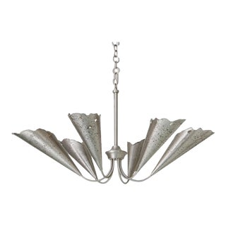 Studio A Industrial Modern Antique Nickel Melting Chandelier For Sale