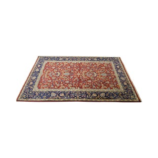 Quality Hand Knotted 4x6 Red Sarouk Area Rug