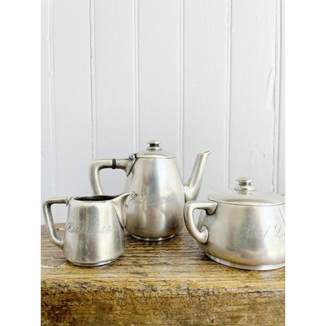 Antique Silver Plated Childs Tea Set From Hotel Lutetia Paris For Sale - Image 9 of 13