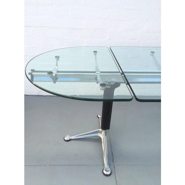 Mid-Century Modern Glass and Aluminum Table Designed by Bruce Burdick for Herman Miller For Sale - Image 3 of 9