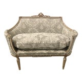 Image of Carved Giltwood French Settee For Sale